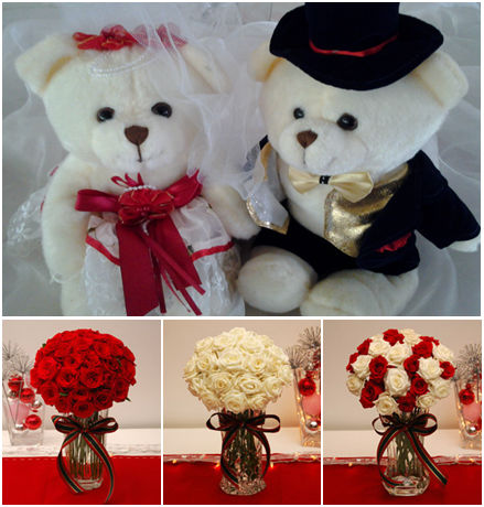 Bears - courtesy of Padre Pio Hall, Tagaytay CityRoses by http://www.islandrose.net
