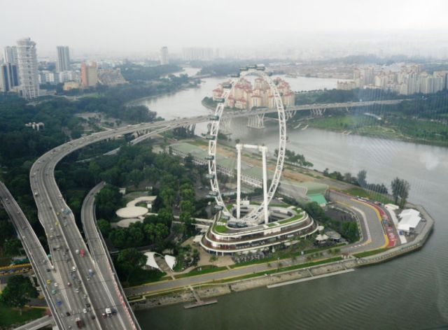 View from MBS - The Singapore Flyer
